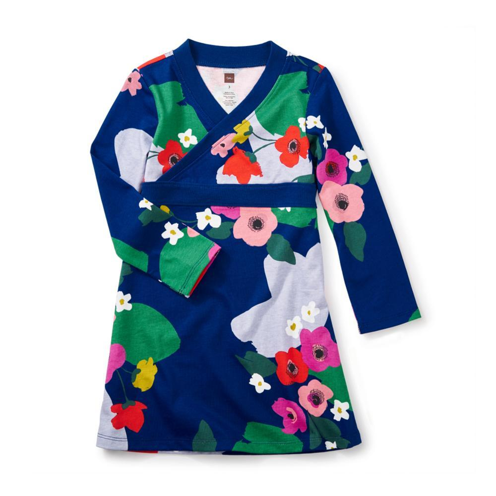 Tea Collection Kids Scotland Garden Wrap Neck Dress NIGHTFALL