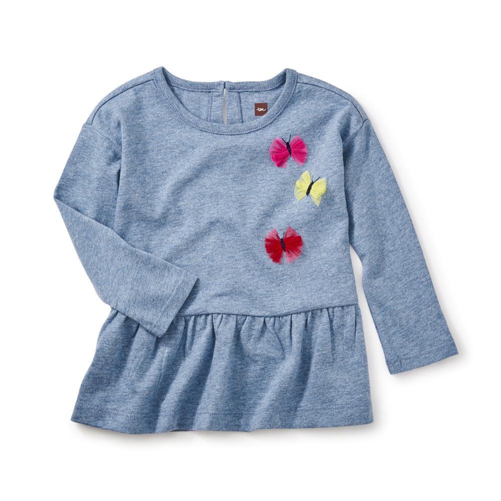 Tea Collection Kids Dealan-De Applique Tunic MARINE