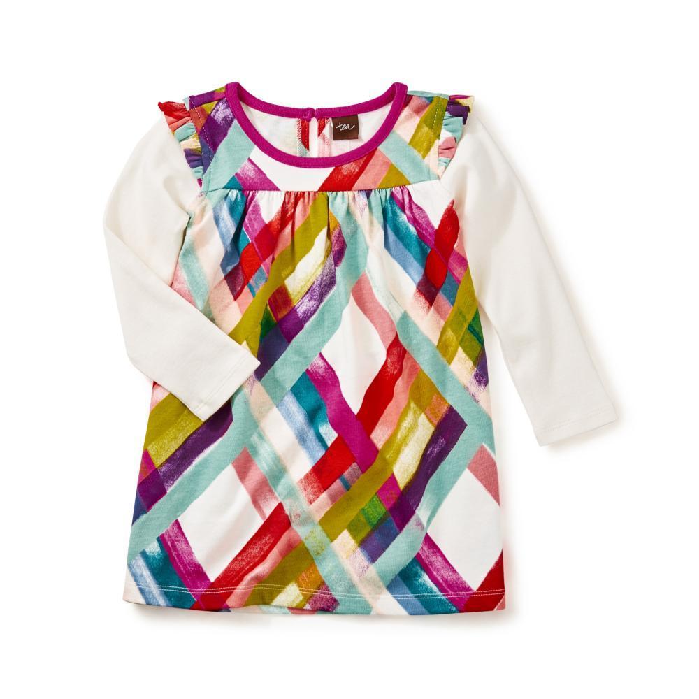 Tea Collection Kids Plaid Mighty Mini Dress CHALK