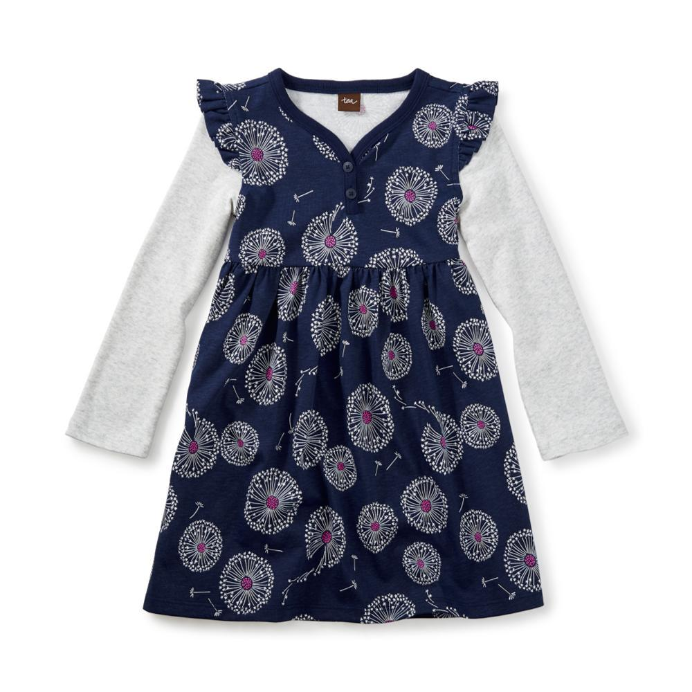 Tea Collection Kids Wish Button Neck Dress BELUGA