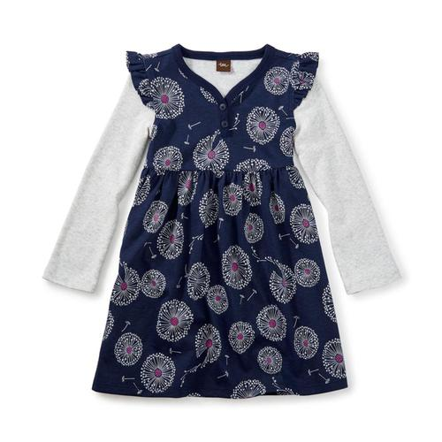 Tea Collection Kids Wish Button Neck Dress