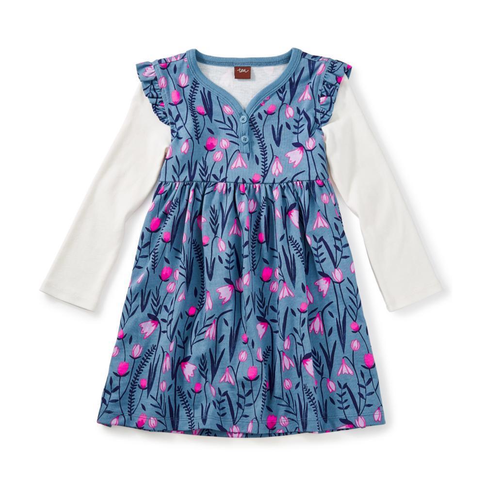 Tea Collection Kids Snowdrop Button Neck Dress