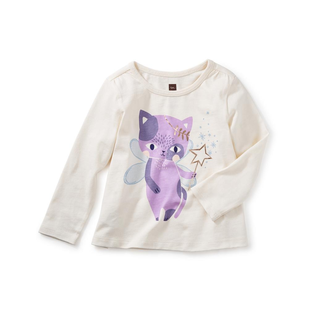 Tea Collection Infant Cat Fairy Graphic Tee CHALK
