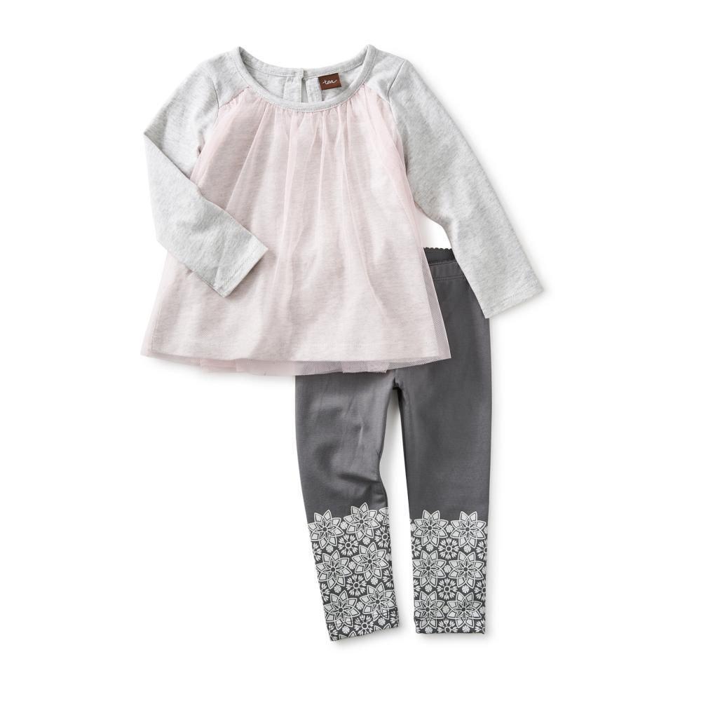 Tea Collection Infant Mackenzie Baby Outfit SFTPEACH