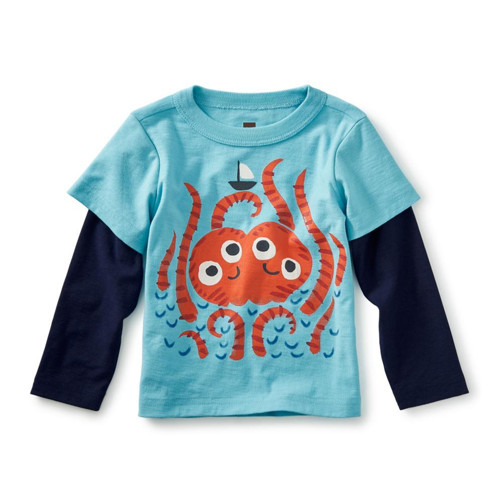 Tea Collection Infant Sea Monster Graphic Tee CYAN