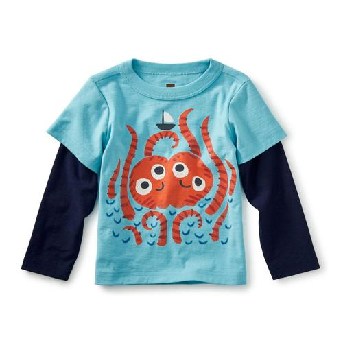 Tea Collection Infant Sea Monster Graphic Tee