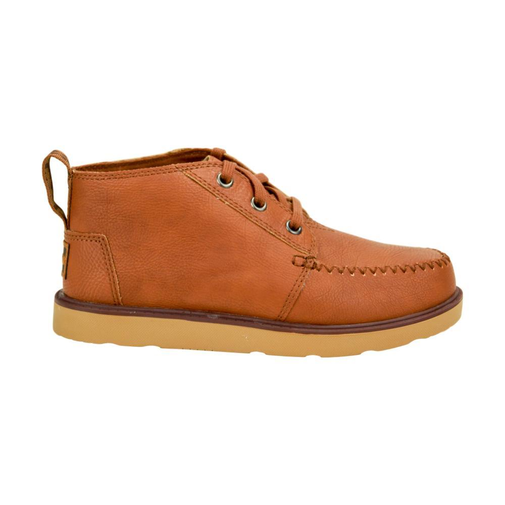 TOMS Youth Brown Synthetic Leather Chukka Boots BROWN
