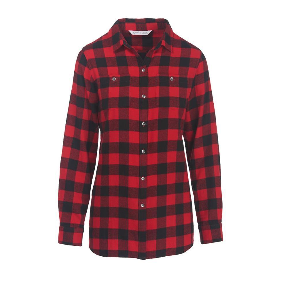 Woolrich Women's Pemberton Boyfriend Tunic Flannel Shirt OLDRED