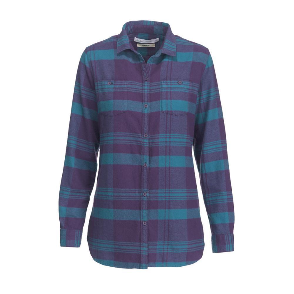 Woolrich Women's Pemberton Boyfriend Tunic Flannel Shirt PURPLEPLUM