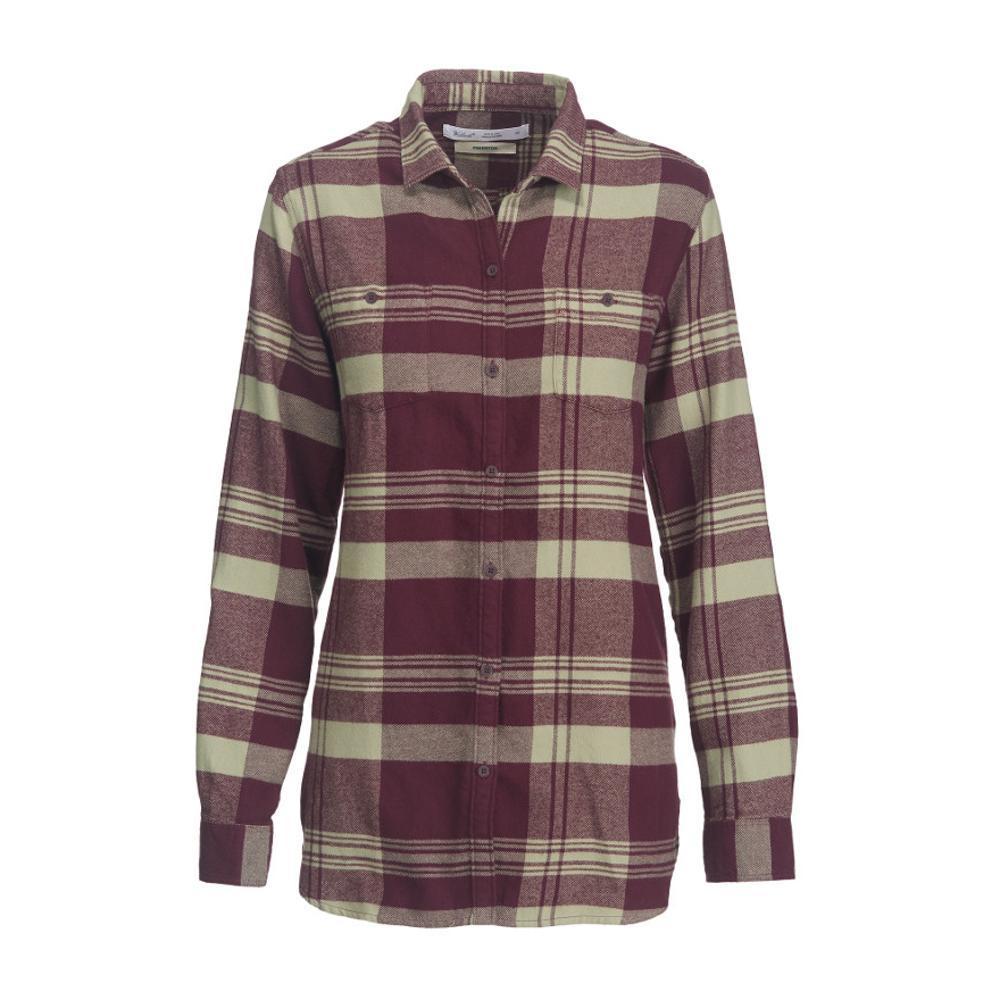 Woolrich Women's Pemberton Boyfriend Tunic Flannel Shirt WINE
