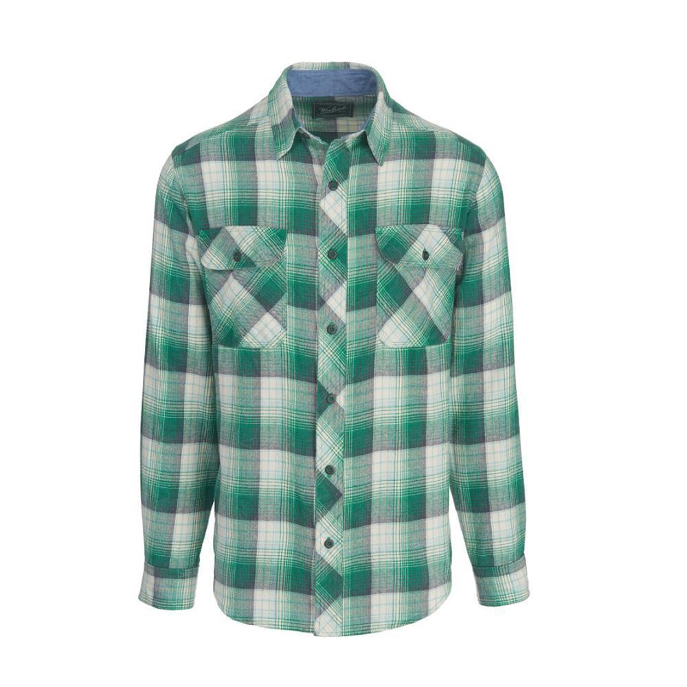 Woolrich Men'sMiners Wash Flannel Shirt FORESTGREN