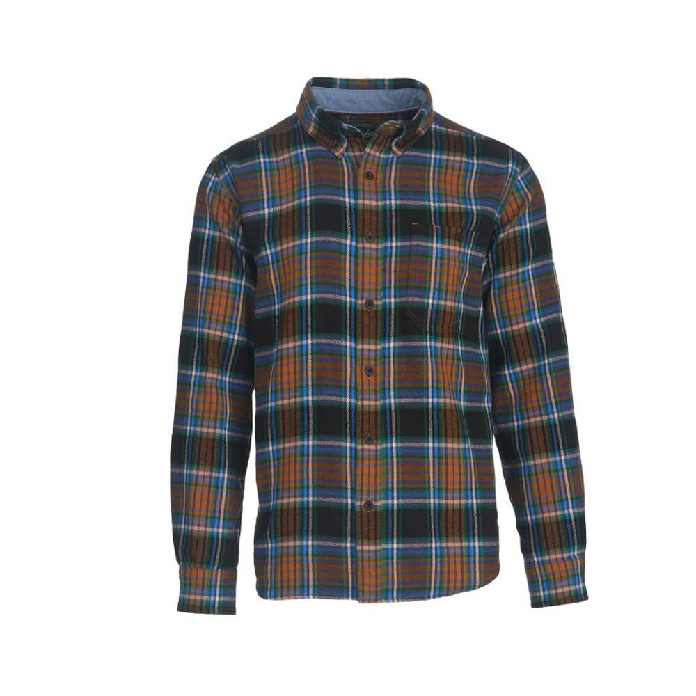 Woolrich Men's Trout Run Plaid Flannel Shirt BLKMULTI