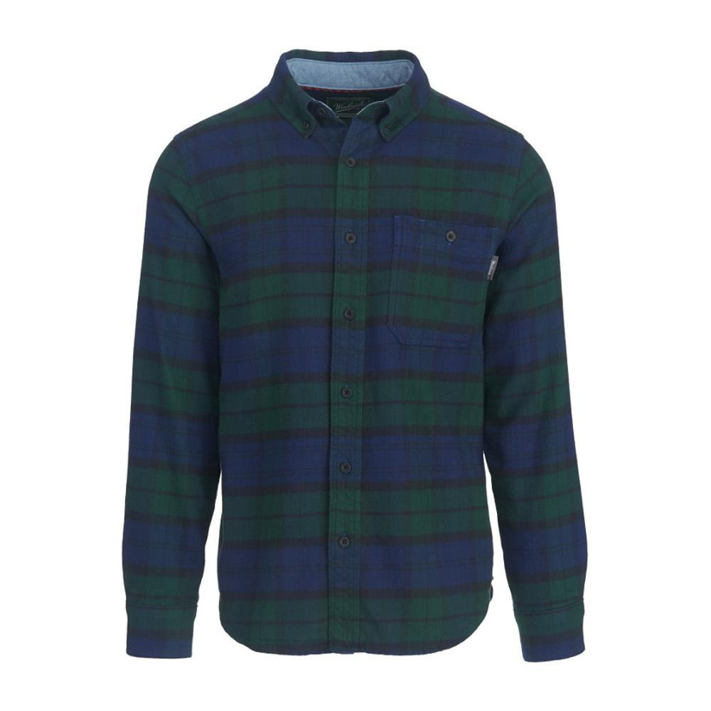 Woolrich Men's Trout Run Plaid Flannel Shirt BLKWATCH