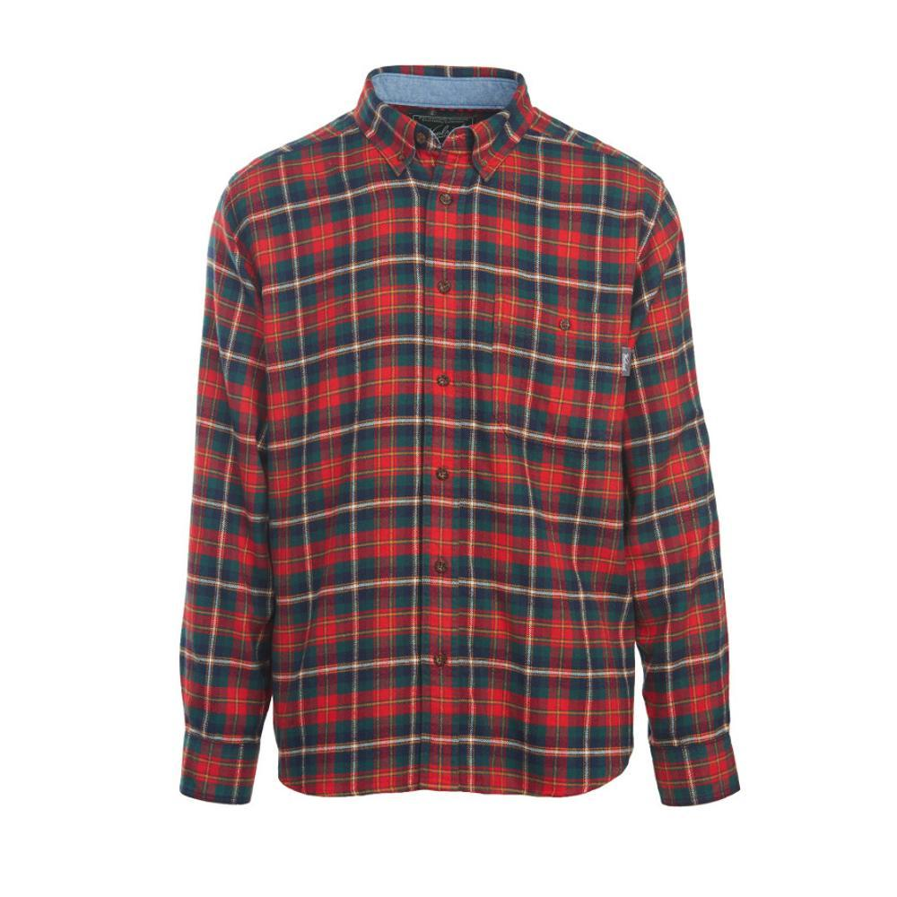 Woolrich Men's Trout Run Plaid Flannel Shirt OLDRED