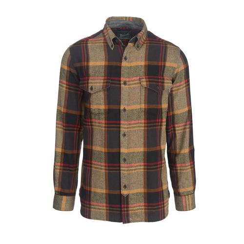 Woolrich Men's Stone Rapids Plaid Herringbone Flannel Shirt