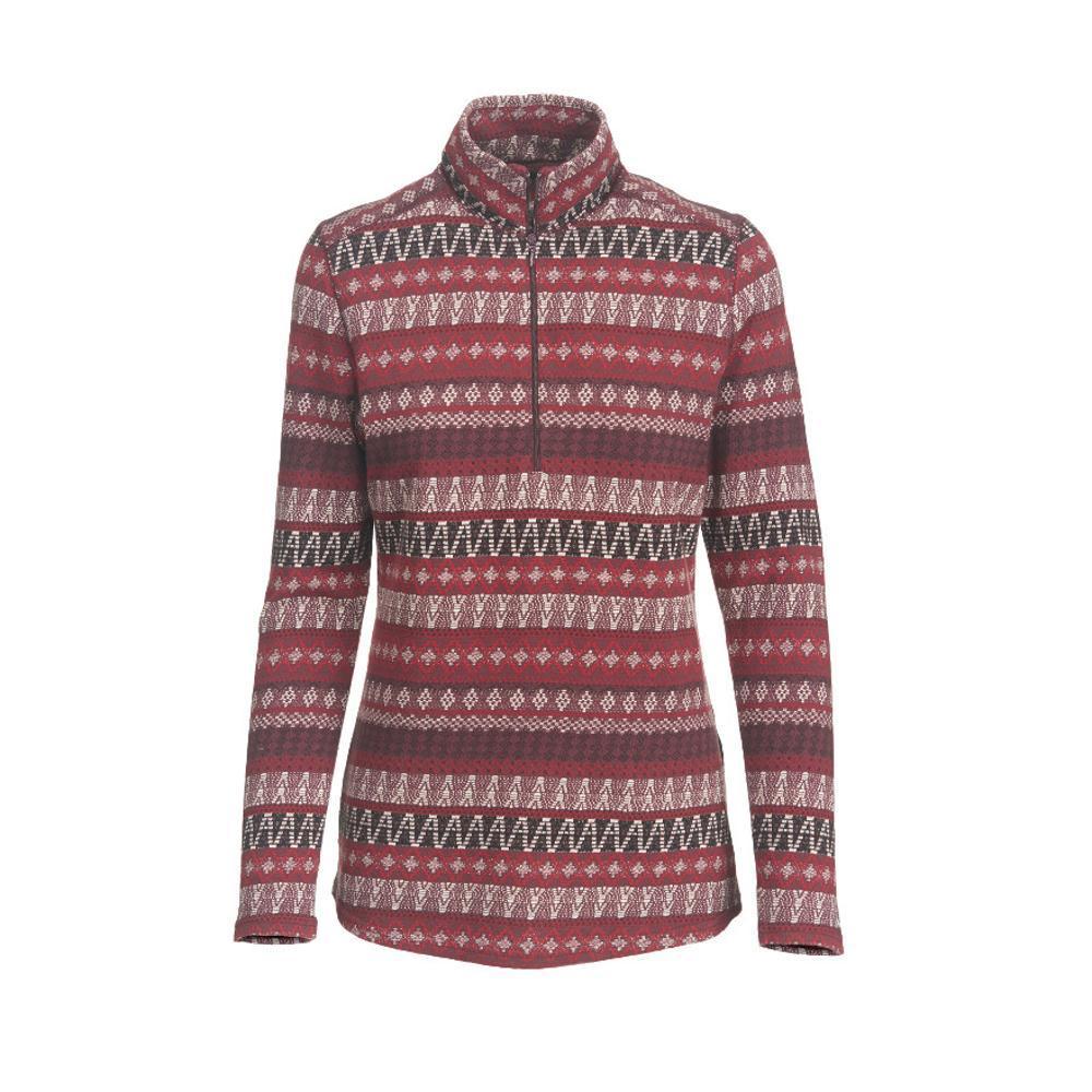 Woolrich Women's Mile Run Half Zip Pullover WINE