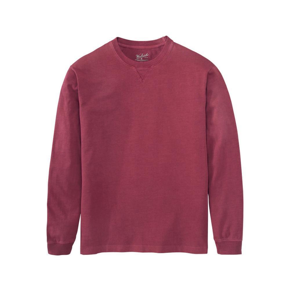 Woolrich Men's Men's First Forks Long Sleeve T-Shirt DEEPRUBY
