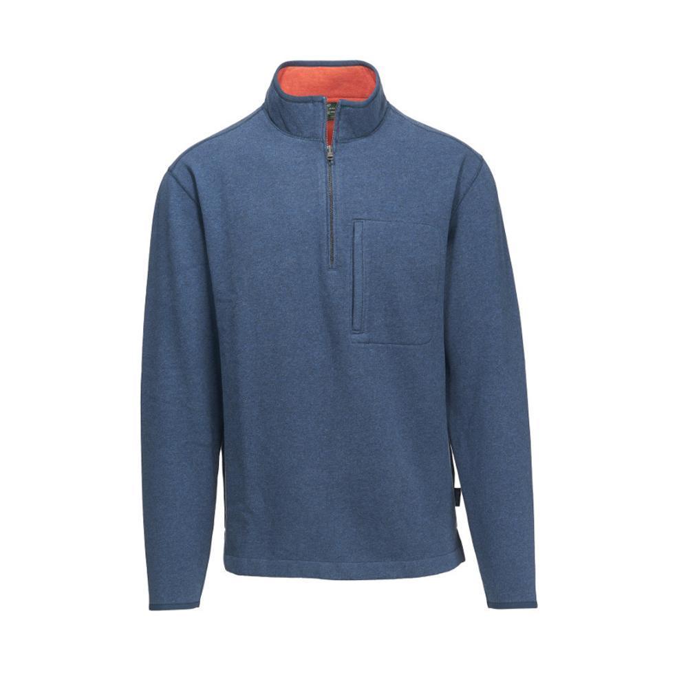 Woolrich Men's Boysen Half Zip Pullover Sweater Fleece II DEEPINDIGO
