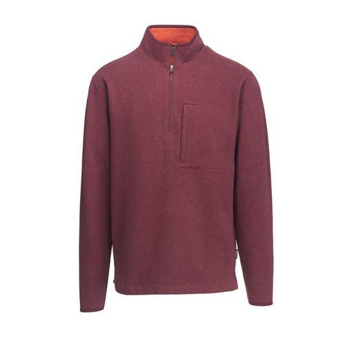 Woolrich Men's Boysen Half Zip Pullover Sweater Fleece II Port