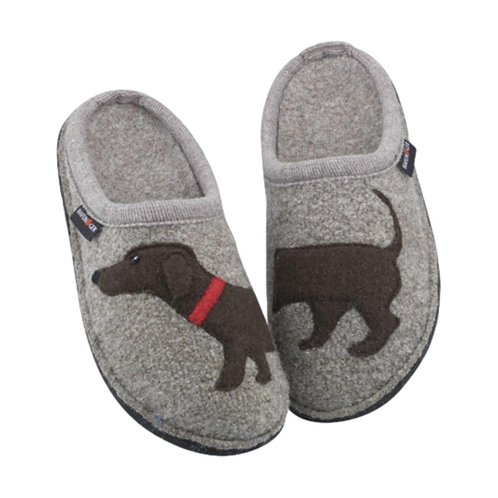 Haflinger Women's Doggy Slippers EARTH