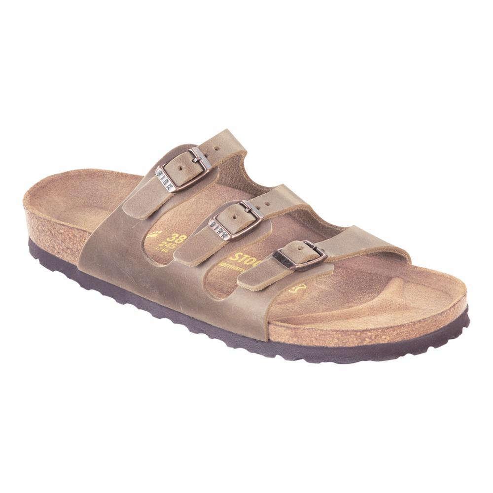 Birkenstock Women's Florida Soft Footbed Oiled Leather Sandals TOBACCO