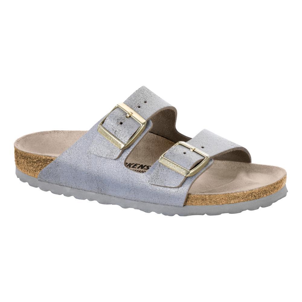 Birkenstock Women's Arizona Leather Sandals METALBLUE