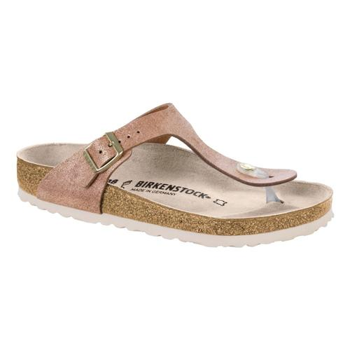 Birkenstock Women's Gizeh Leather Sandals Metalrose