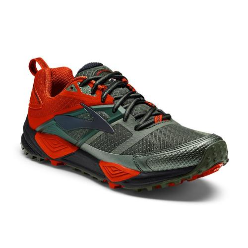 Brooks Men's Cascadia 12 Shoes Grn.Org.Bk
