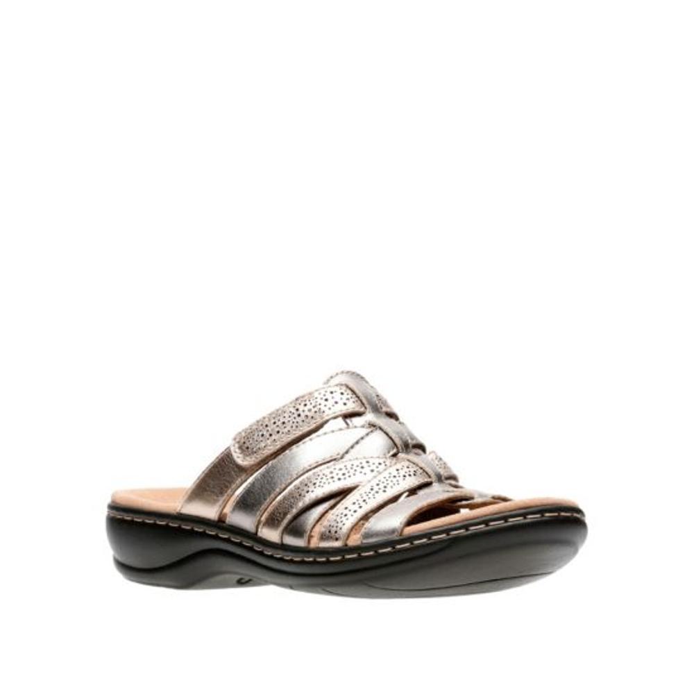 Clarks Women's Leisa Field Slide Sandals METALMLT