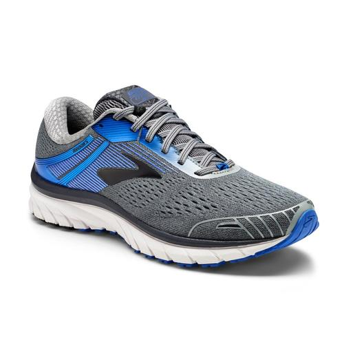 Brooks Men's Adrenaline GTS 18 Shoes Gry.Blu.Bk