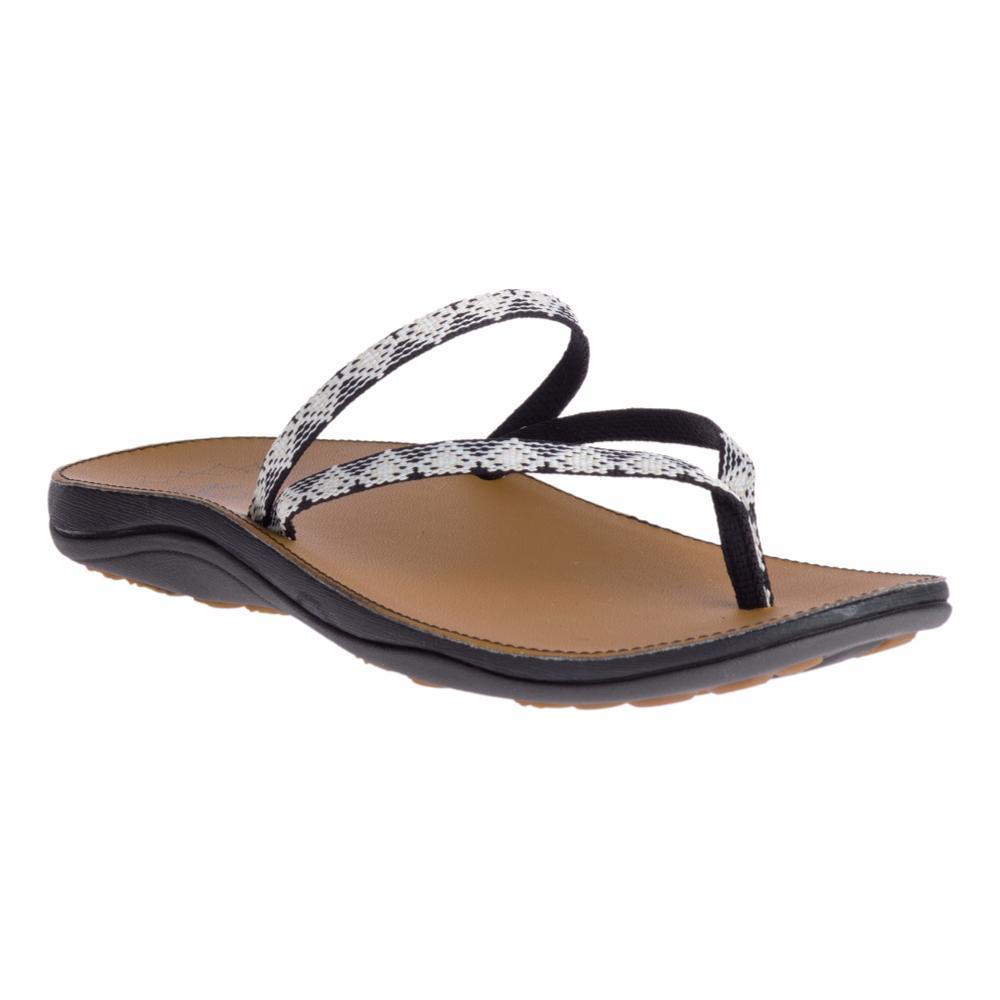 Chaco Women's Abbey Flip Sandals PKSBLKWHT