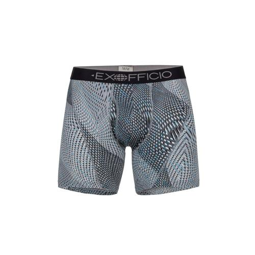 ExOfficio Men's Give-N-Go Sport Mesh Print 6in Boxer Brief Dkpbbl_7310