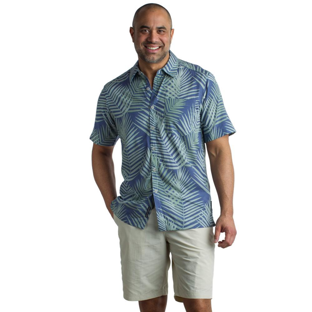 ExOfficio Men's Next-To-Nothing Pindo Print S/S Shirt INDIGOWASH