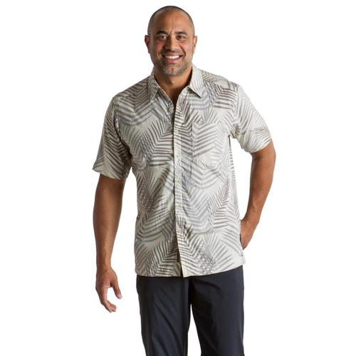 ExOfficio Men's Next-To-Nothing Pindo Print S/S Shirt Lt.Stone