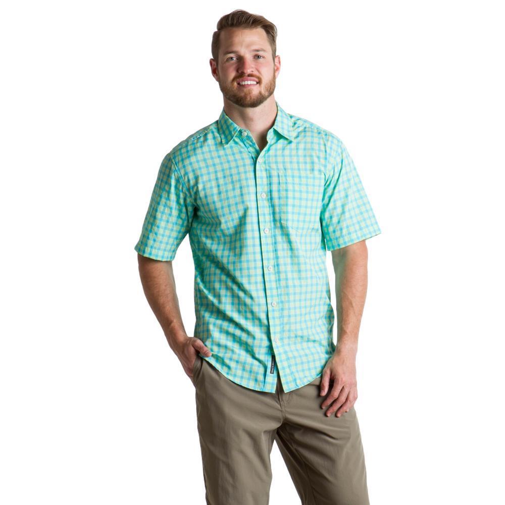 ExOfficio Men's Salida Check S/S Shirt ARCADIAN