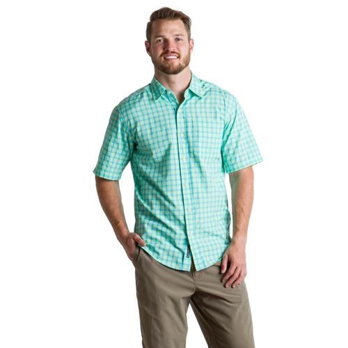 ExOfficio Men's Salida Check S/S Shirt Arcadian