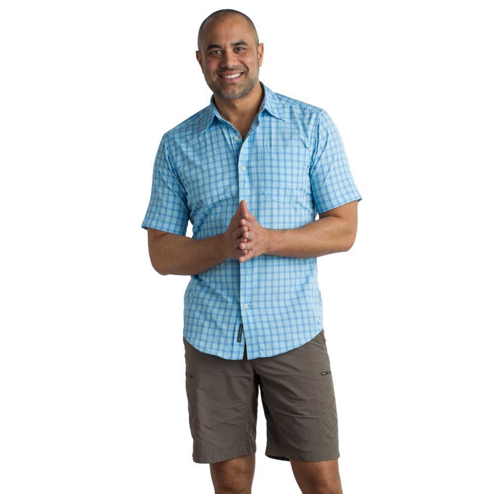 ExOfficio Men's Salida Check S/S Shirt SILVERLAKE