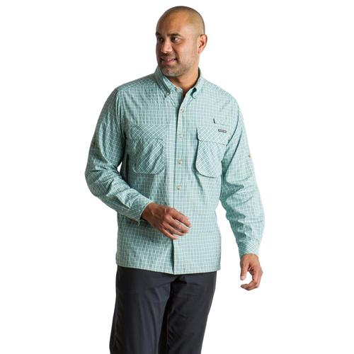 ExOfficio Men's Air Strip Check Plaid Long Sleeve Shirt