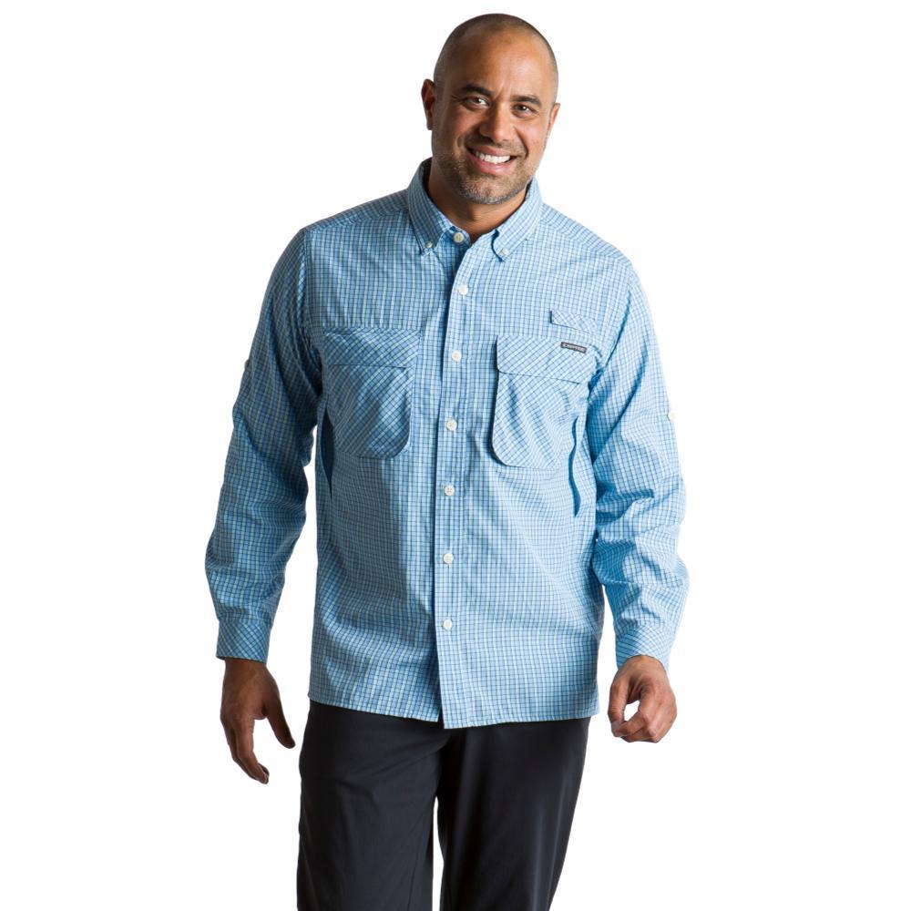ExOfficio Men's Air Strip Check Plaid Long Sleeve Shirt LTLAPIS