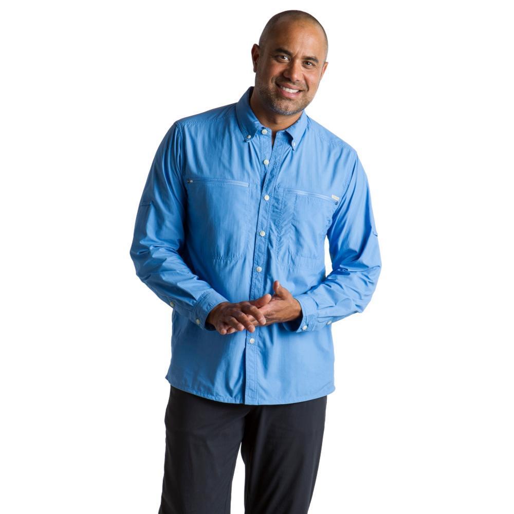 ExOfficio Men's Atoll L/S Shirt SILVERLAKE