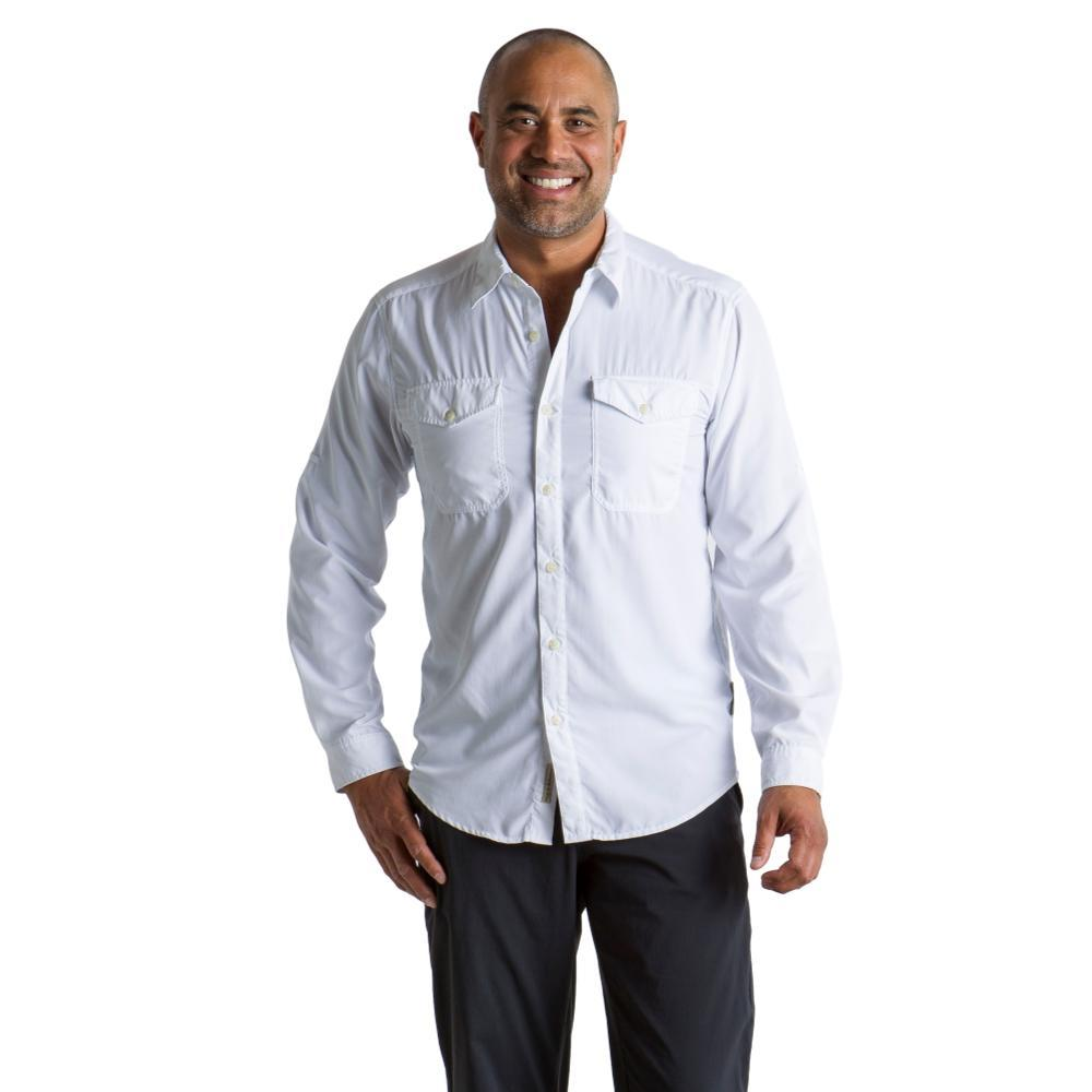 ExOfficio Men's BugsAway Briso L/S Shirt WHITE