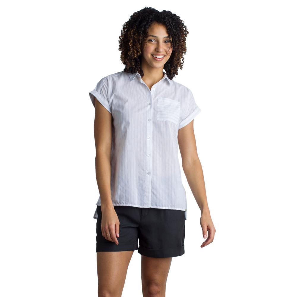 ExOfficio Women's Lencia Short Sleeve Shirt WHITE