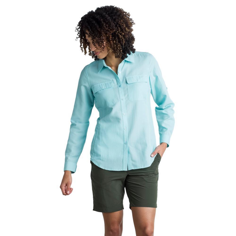 ExOfficio Women's Rotova L/S Shirt ICELANDIC