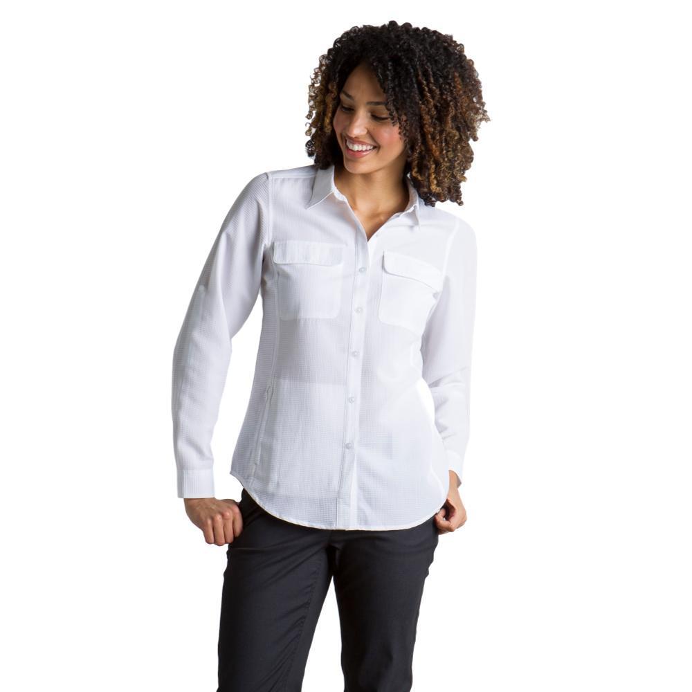 ExOfficio Women's Rotova L/S Shirt WHITE