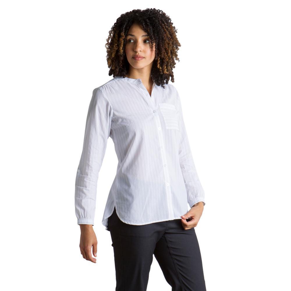 ExOfficio Women's Lencia Long Sleeve Shirt WHITE