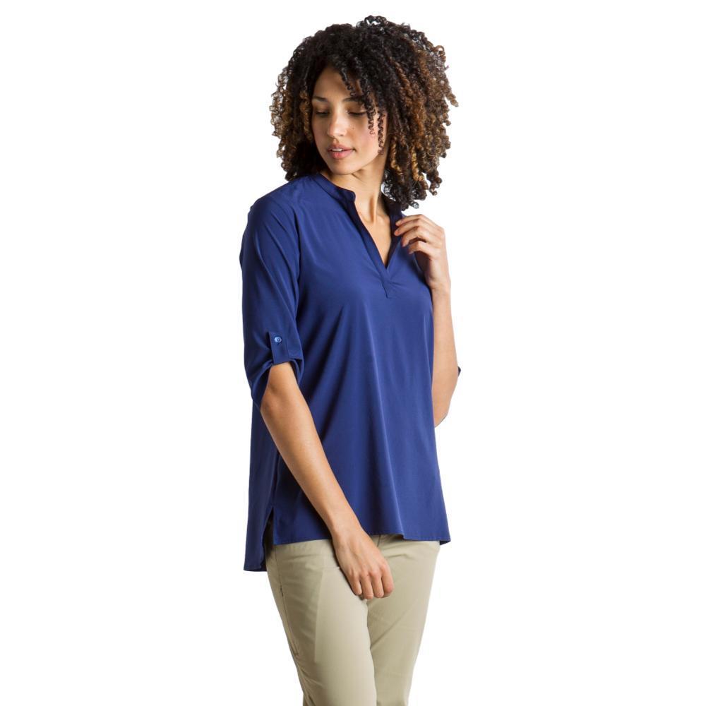 ExOfficio Women's Kizmet 3/4 Sleeve Shirt INK