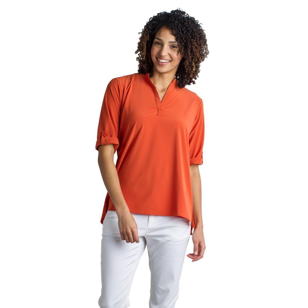 ExOfficio Women's Kizmet 3/4 Sleeve Shirt PAPRIKA