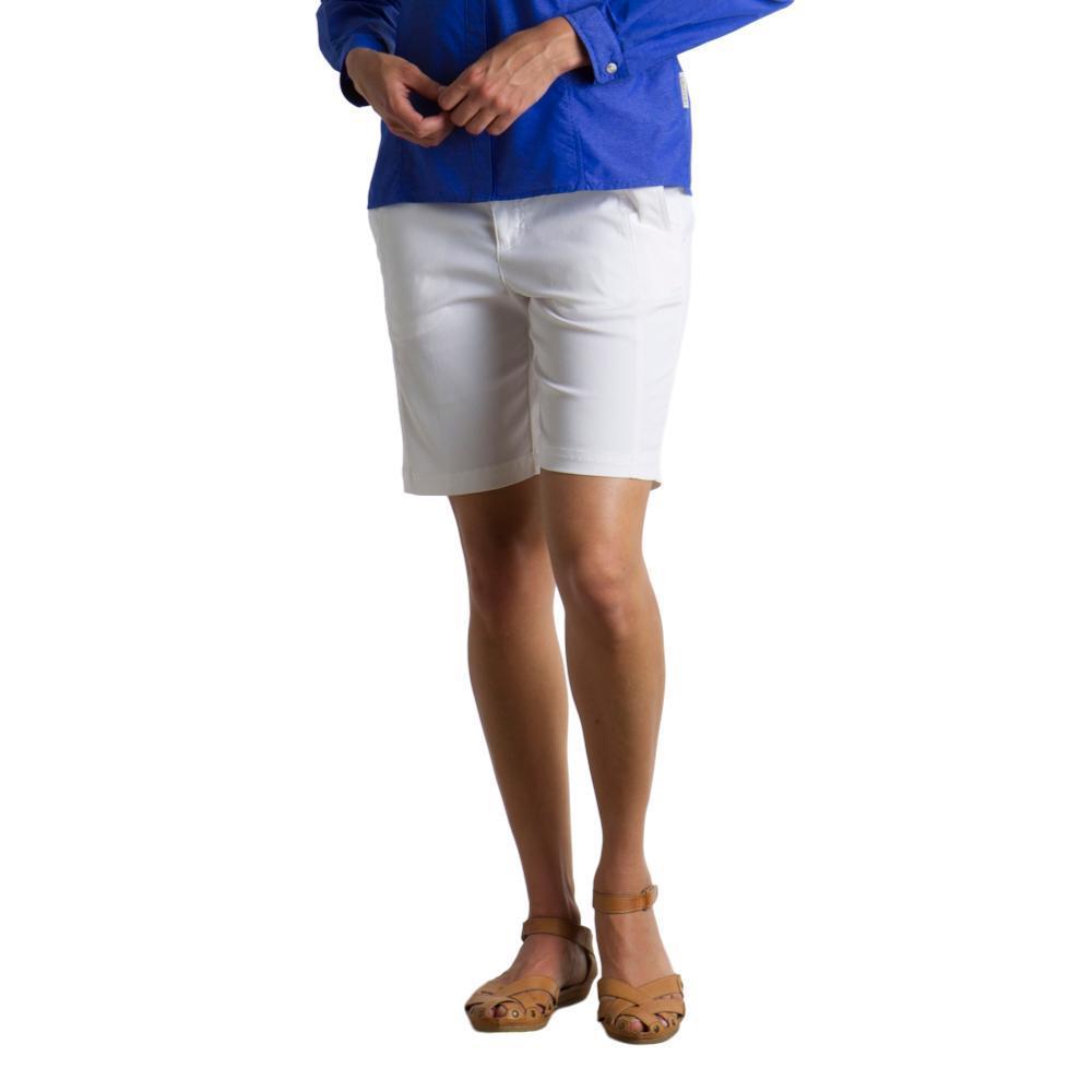ExOfficio Women's Costera Bermuda Shorts - 9in WHITE