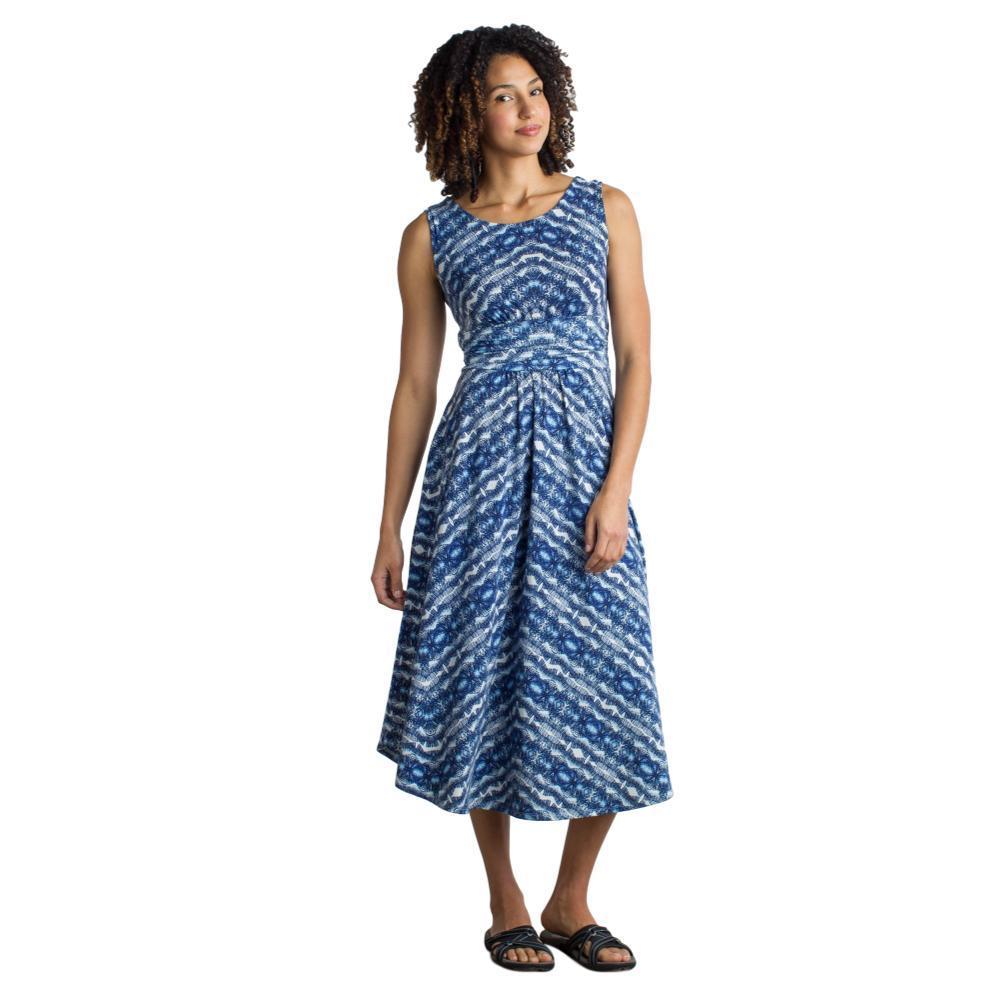 ExOfficio Women's Wanderlux Cap Sleeve Midi Dress BATIKPRINT