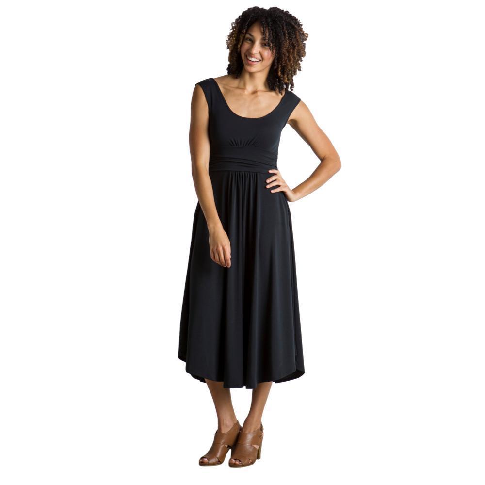 ExOfficio Women's Wanderlux Cap Sleeve Midi Dress BLACK
